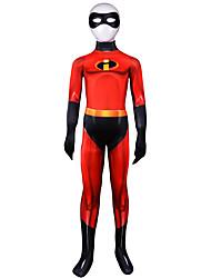 preiswerte -Zentai Anzüge Austattungen Superman Ninja Kinder Cosplay Kostüme Halloween Rote Einfarbig Elastan Lycra® Jungen Halloween Karneval Maskerade