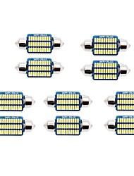 Недорогие -10 шт. 31mm / 36mm Автомобиль Лампы 1 W SMD 3014 60-100 lm 21/30 Светодиодная лампа Подсветка для номерного знака / Внутреннее освещение Назначение Универсальный