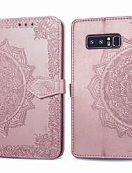 ieftine -Maska Pentru Samsung Galaxy Note 8 Titluar Card / Întoarce Carcasă Telefon Mată Greu PU piele pentru Note 8