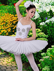 cheap -Ballet Dresses / Tutus & Skirts Women's Training / Performance Polyester / Mesh Crystals / Rhinestones Sleeveless Dress