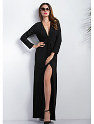 preiswerte -Damen Swing Kleid Solide Maxi