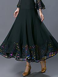 저렴한 -볼륨 댄스 하위 여성용 트레이닝 / 성능 폴리에스테르 패턴 / 프린트 / 루시 주름 장식 높음 치마