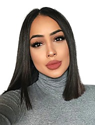 cheap -Synthetic Wig Natural Straight Black Bob Dark Black Synthetic Hair 12 inch Women's Synthetic / Comfortable / Natural Hairline Black Wig Medium Length Capless HAIR CUBE