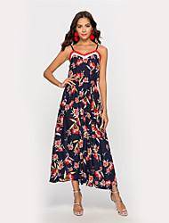 저렴한 -여성용 칼집 드레스 - 플로럴 미디