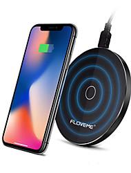Недорогие -Floveme 10 Вт супер тонкий Ци беспроводное автомобильное зарядное устройство со светодиодной подсветкой для iphone x 8plus samsung s8 note 8