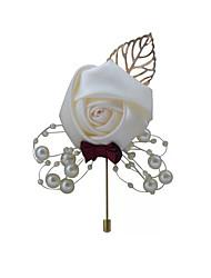 Недорогие -Свадебные цветы Бутоньерки / Подарки Свадьба / Официальные Шелк / бисер 11-20 cm