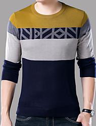halpa -Miesten Pyöreä kaula-aukko Puuvilla Color Block T-paita