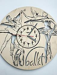 Недорогие -балет настенные часы деревянные украшения дома кухня