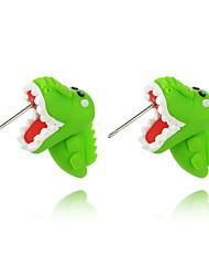 Недорогие -Жен. Серьги-гвоздики Серьги Динозавр Животный принт Симпатичные Стиль Для детей Серьги Бижутерия Зеленый Назначение Свидание 1 пара