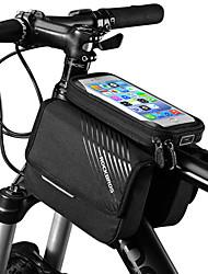 Недорогие -ROCKBROS Сотовый телефон сумка / Бардачок на раму 6 дюймовый Сенсорный экран, Компактность Велоспорт для iPhone X / iPhone XR / iPhone XS Черный