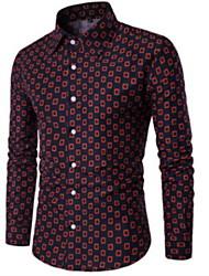 رخيصةأون -قميص الرجل النحيف - طوق القميص الهندسي