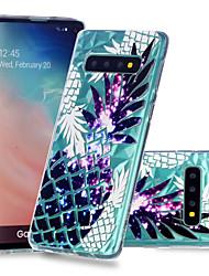 Недорогие -Кейс для Назначение SSamsung Galaxy Galaxy S10 Plus / Galaxy S10 E Защита от удара / Прозрачный / С узором Кейс на заднюю панель Фрукты Мягкий ТПУ для S9 / S9 Plus / S8 Plus
