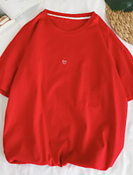 abordables -Tee-shirt Homme, Couleur Pleine Col Arrondi
