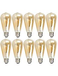 Недорогие -10 шт. 4 W LED лампы накаливания 360 lm E26 / E27 ST64 4 Светодиодные бусины COB Диммируемая Тёплый белый 220-240 V 110-130 V