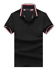 cheap -Men's T-shirt - Striped Patchwork