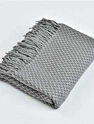 abordables -Couvertures Multifonctionnelles, Couleur Pleine / simple / Classique Fibres acryliques Réchauffeur Frange Doux couvertures