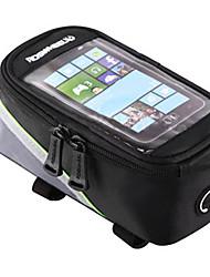Недорогие -ROSWHEEL Сотовый телефон сумка / Бардачок на раму 4.2/5.5/6.2 дюймовый Сенсорный экран, Отражение, Водонепроницаемость Велоспорт для Samsung Galaxy S6 / iPhone 5c / iPhone 4/4S Красный