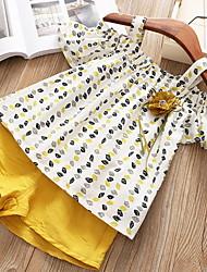 זול -סט של בגדים שרוולים קצרים דפוס בנות ילדים