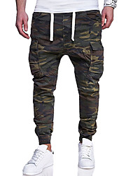 cheap -Men's Harem Jogger Pants Army Green Sports Solid Color Cotton Compression Clothing Gym Workout Activewear Lightweight Quick Dry Micro-elastic Regular