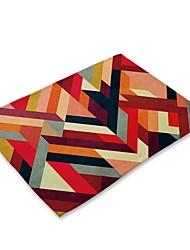お買い得  -コンテンポラリー 不織の 方形 プレイスマット ストライプ エコ テーブルデコレーション 1 pcs