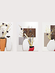 abordables -Fleurs / Botaniques / Nature morte Décoration murale Similicuir Pastoral Art mural, Tentures murales Décoration