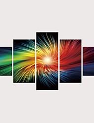 abordables -Imprimé Impressions sur toile roulées Impression sur Toile - Paysage Nature & Grand Air Contemporain Moderne Cinq Panneaux