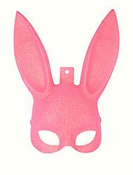 povoljno -Rabbit Maskota Uskršnji zeko Mask Dječji Djevojčice Crtići Uskrs Festival / Praznik Plastika Crn / Pink Karneval kostime Jednobojni