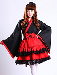 billige -Voksne Dame Kimonoer Drakter Japansk Kimono Badekåpe Til Halloween Dagligdagstøy Festival Spandex Polyester Topp Skjørte