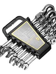 Недорогие -Гаечный ключ с трещоткой комбинированный гаечный ключ аппаратные средства для ремонта автомобиля с внутренним шестигранником