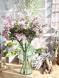 billiga -Konstgjorda blommor 1 Gren Klassisk Europeisk Orkidéer Eviga Blommor Bordsblomma