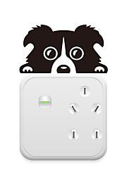 Недорогие -Наклейки для выключателя света - Наклейки для животных Животные Гостиная / Спальня / Кухня