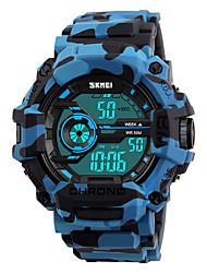 cheap -SKMEI Men's Digital Watch Digital Silicone Blue / Orange / Green 50 m Water Resistant / Waterproof Calendar / date / day Stopwatch Digital Fashion Colorful - Orange Green Blue