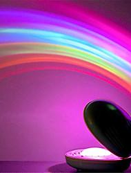 Недорогие -1 шт. Радуга ночной свет лампы проектора в форме корпуса красочные светодиодные проекционные лампы удивительные красочные светодиодные романтический ночной свет