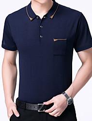 halpa -miesten paita - vankka värillinen paita kaulus