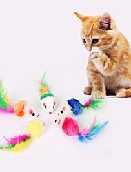 Недорогие -Интерактивный Плюшевые игрушки Игрушка с перьями Подходит для домашних животных Плюшевая ткань Назначение Коты