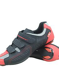 abordables -SIDEBIKE Adulte Chaussures Vélo / Chaussures de Cyclisme Antidérapant Ventilation Ultra léger (UL) Cyclisme sur Route Cyclisme / Vélo Noir / Rouge Homme Femme Chaussures Vélo / Chaussures de Cyclisme