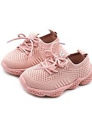 halpa -Tyttöjen Kengät Elastinen kangas Kevät Comfort / Ensikengät Urheilukengät Kävely varten Vauvat Musta / Harmaa / Pinkki