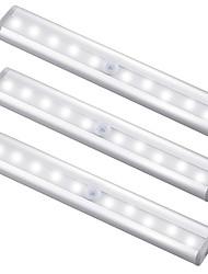 billige -3pcs 1 W 100 lm 10 LED perler Infrarød sensor LED-kabinettlamper Varm hvit Kjølig hvit 5 V