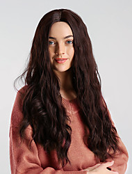 cheap -Synthetic Wig Body Wave Brown Middle Part Light golden Brown Synthetic Hair 24 inch Women's Synthetic / Comfortable / Natural Hairline Brown Wig Long Capless HAIR CUBE