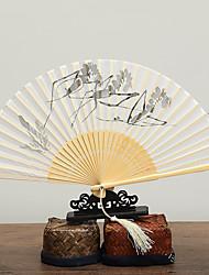billige -Voksne Herre Dame Asiatisk dusk Kinesisk Stil Cosplay Kostumer Til Fest Hverdag Gave Bambus Xuan papir Folding håndholdt vifte