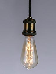 رخيصةأون -1PC 40 W E26 / E27 ST64 أصفر الجسم شفافة المتوهجة خمر اديسون ضوء لمبة 220-240 V