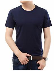 halpa -Miesten Pyöreä kaula-aukko Yhtenäinen T-paita
