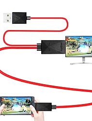 abordables -Micro USB 2.0 Câble adaptateur, Micro USB 2.0 à HDMI 1.4 Câble adaptateur Male - Male 1.8m (6Ft)