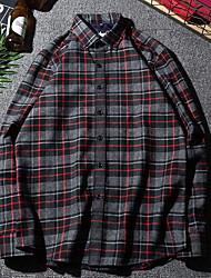 economico -Camicia Per uomo Con stampe, Monocolore