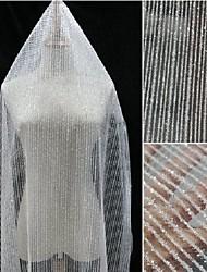 economico -Tulle Geometrica Anelastico 150 cm larghezza tessuto per Nuziale venduto di il 0.45m