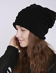 Недорогие -Универсальные Активный Классический Симпатичные Стиль Широкополая шляпа Акрил,Однотонный Осень Зима Темно-серый Бежевый Светло-серый