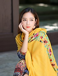 billige -Indisk jente Bollywood Voksne Dame Asiatisk Paljetter churidar Saree Belly Dance Costume Til Ytelse Dagligdagstøy Festival Lin / Bomull Blanding Sjal