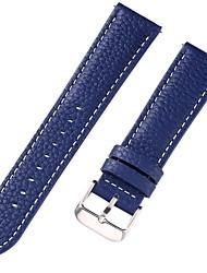 Недорогие -Настоящая кожа / Кожа / Шерсть теленка Ремешок для часов Ремень для Синий 17см / 6,69 дюйма / 18cm / 7 дюймы / 19cm / 7.48 дюймы 1cm / 0.39 дюймы / 1.2cm / 0.47 дюймы / 1.3cm / 0.5 дюймы