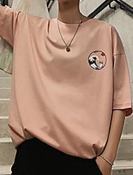 お買い得  -メンズTシャツ - 無地ラウンドネック