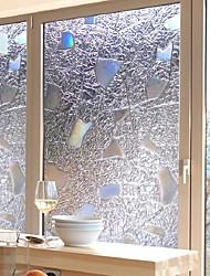Недорогие -Оконная пленка и наклейки Украшение Современный / 3D Геометрический принт ПВХ Стикер на окна / Антибликовая